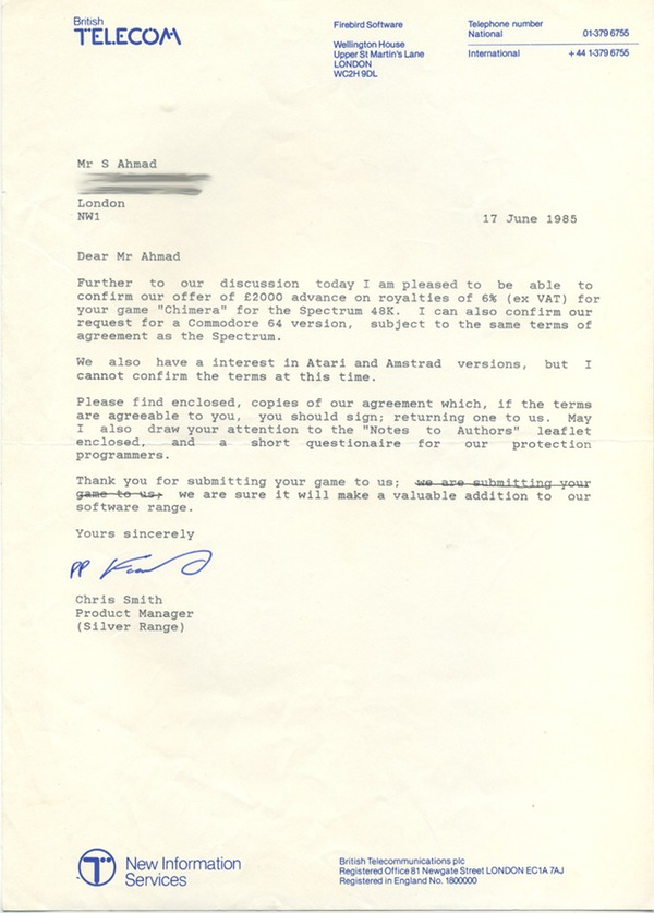 Letter from Chris Smith confirming Chimera advance.jpg