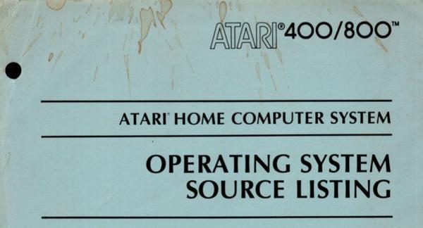 Atari 400 800 OS Source Listing